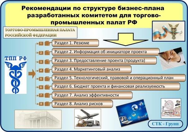 Структура бизнес-плана рекомендованная ТПП РФ