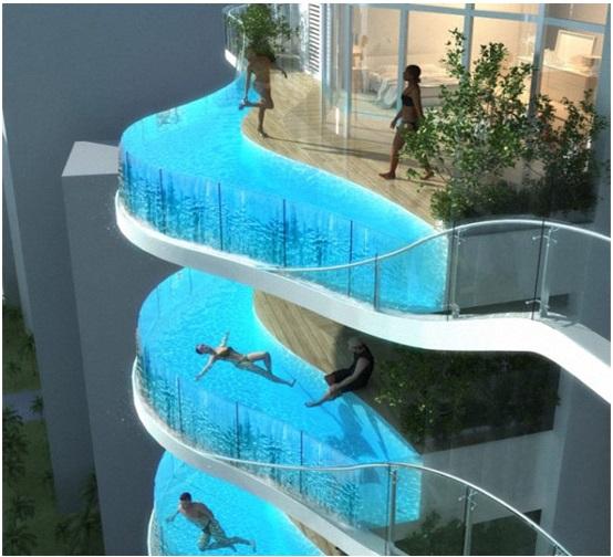 В Мумбае строятся апартаменты с бассейном на балконе