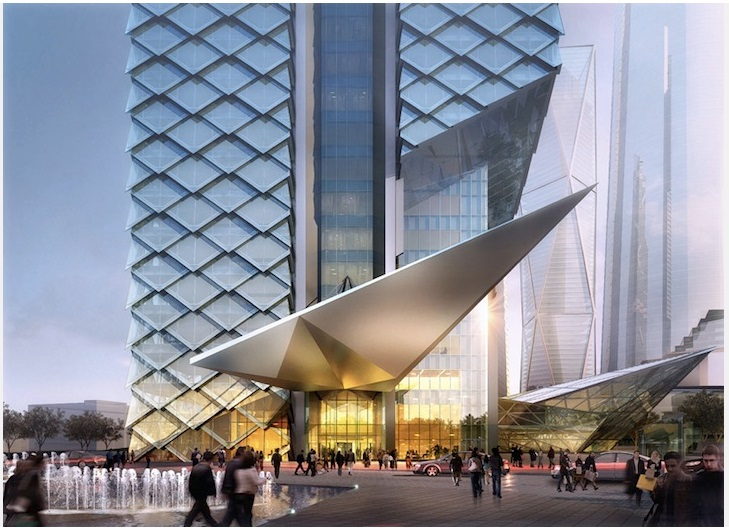 Dancing Dragons merges modern technology with traditional architectural elements_2