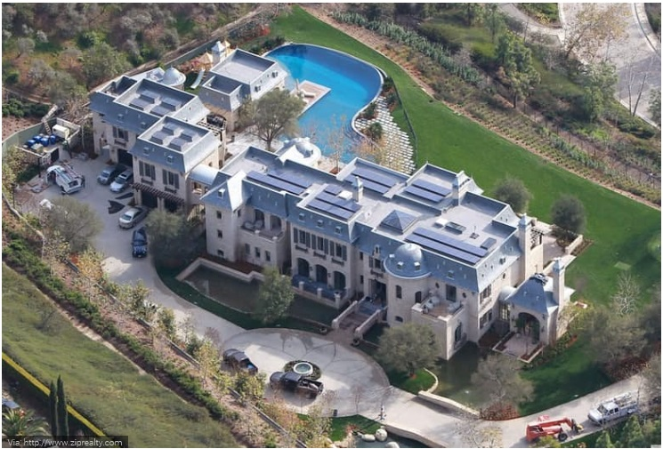 Tom Brady and Gisele Bundchen- LA Estate