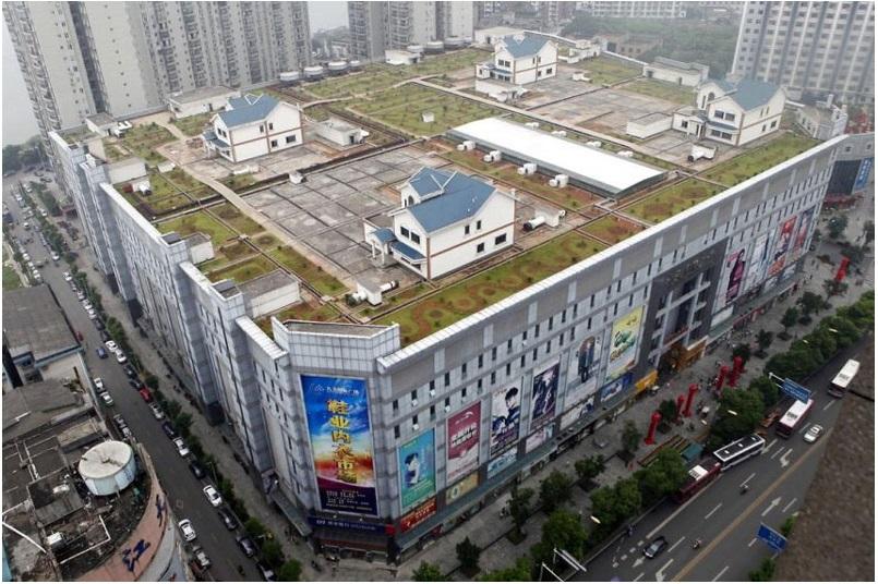 Дома в Китае строят на крышах торговых центров