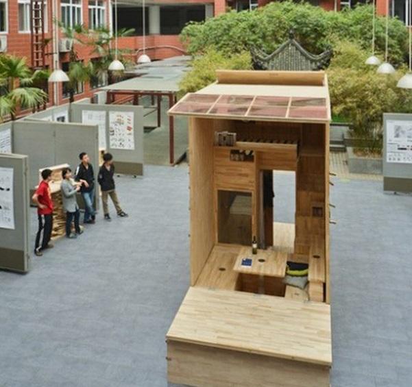 Китайские студенты построили дом площадью 7 кв. м