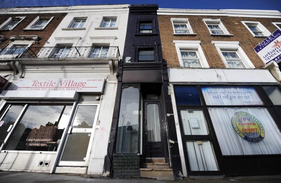 Лондонский дом шириной 1,8 м продан за £550 000