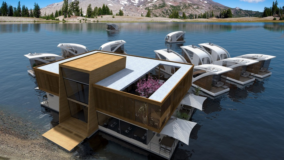 Salt & Water Design Floating Hotel with Catamaran-Apartments