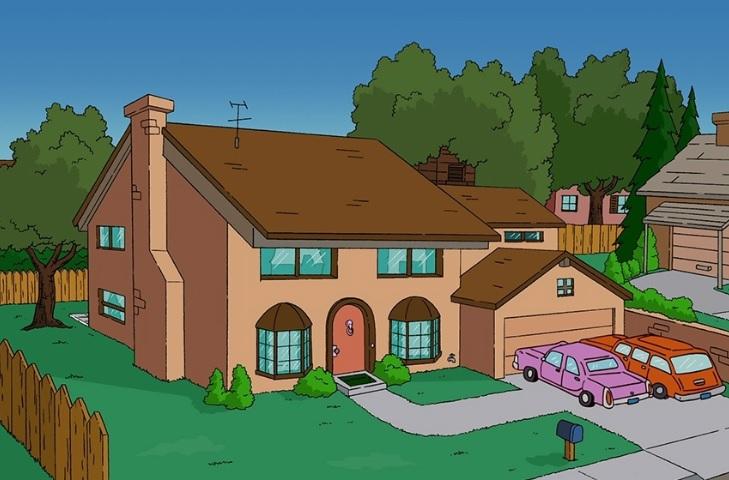 реплика дома Симпсонов