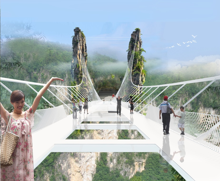 China Set to Open World's Longest and Highest Glass-Bottom Bridge_2