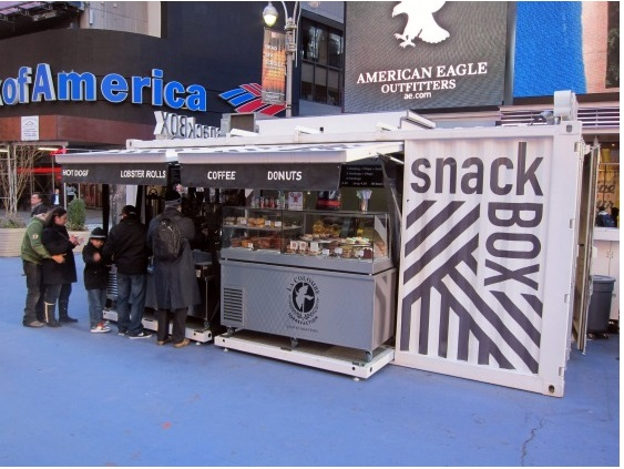 Контейнерная закусочная на Таймс-сквер