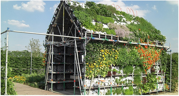 Every part of this house is reusable and completely edible