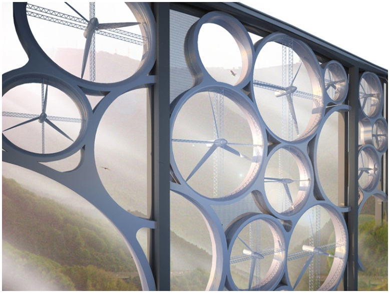 A futuristic concept to turn viaducts into electricity generators