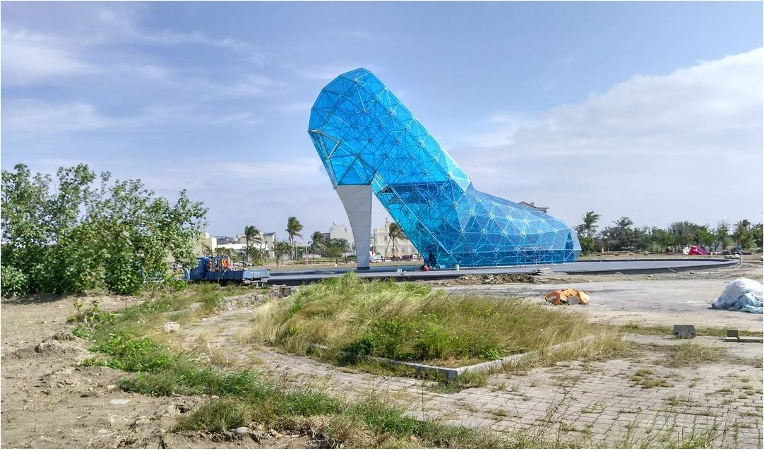 The glass church shaped like a slipper