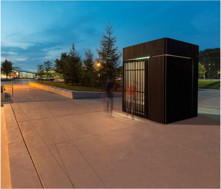 This small cabin can unfold into an open-air library_2