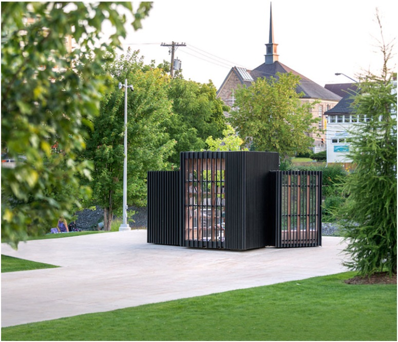 This small cabin can unfold into an open-air library_5