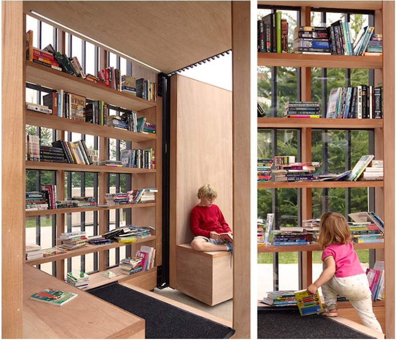 This small cabin can unfold into an open-air library_7