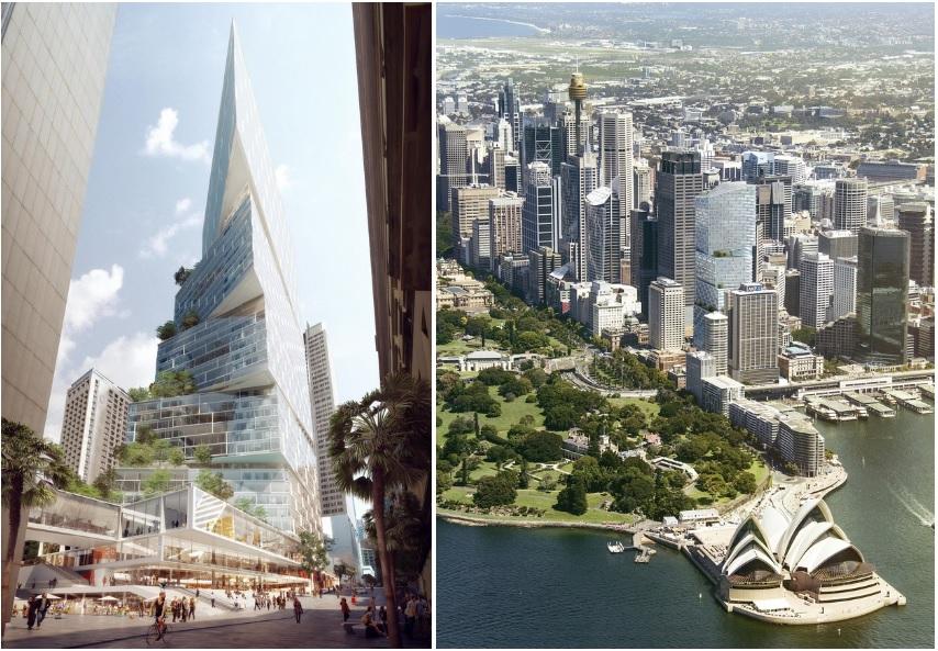 В Сиднее появится 49-этажный небоскреб в форме смещенных параллелепипедов