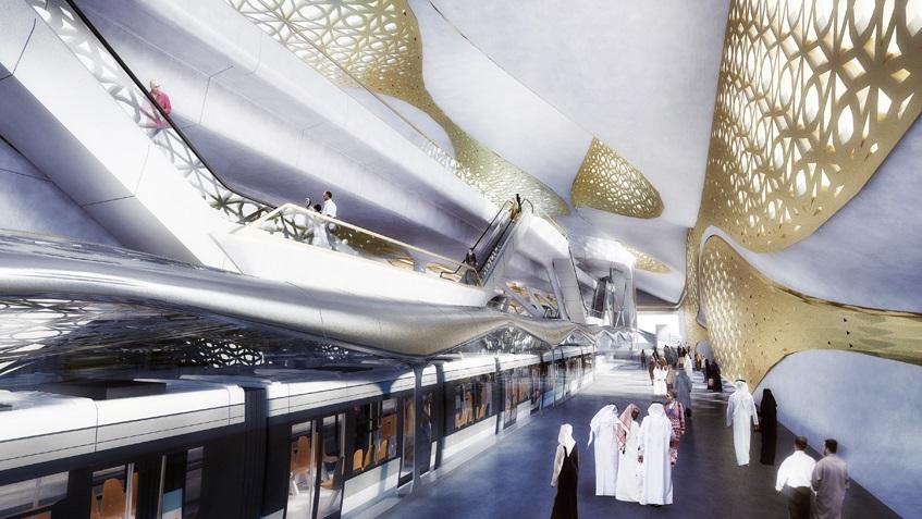 В Эр-Рияде построят золотую станцию метро по проекту Захи Хадид