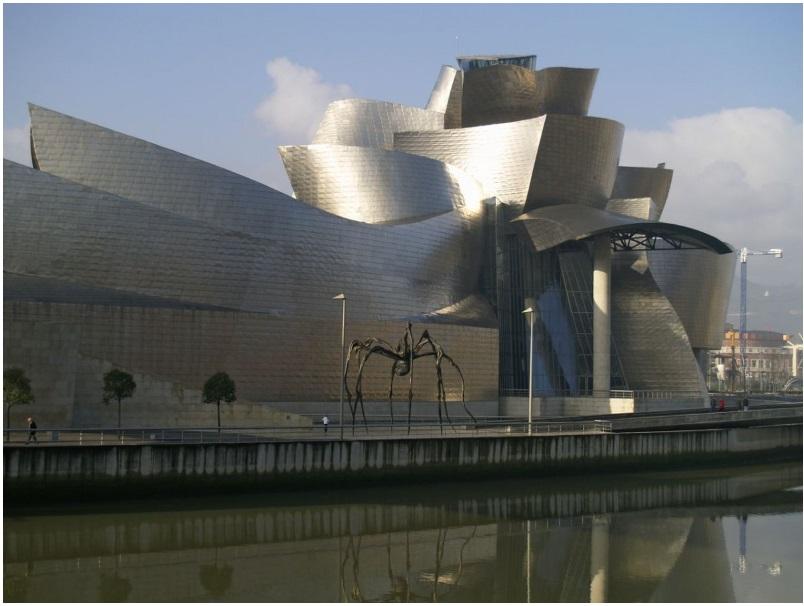 Frank Gehry's Guggenheim Bilbao in Spain