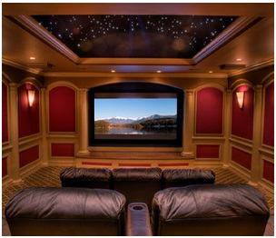 Home Theater With A Moon Roof