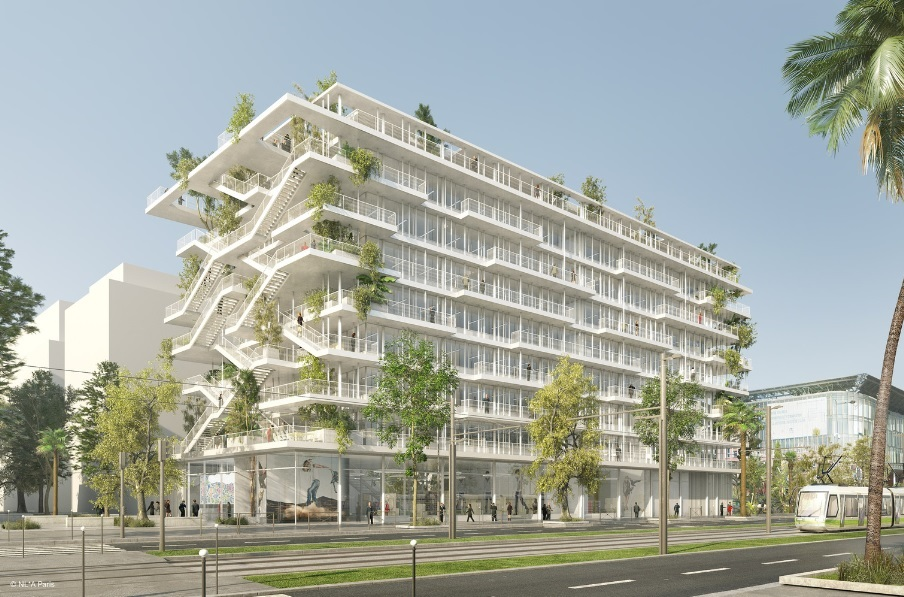 NLA Reveals Plans for Open-Concept Green Office Building in France