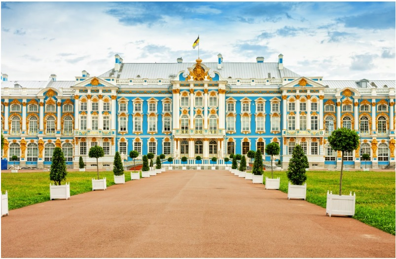The Catherine Palace just south of St. Petersburg