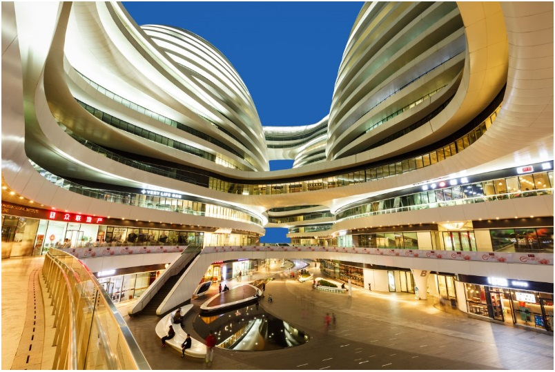 The Galaxy Soho in Beijing, China