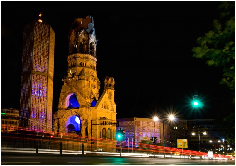 The Kaiser Wilhelm Memorial Church in Berlin, Germany