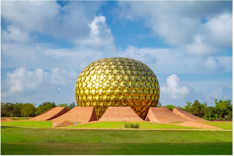 The Matrimandir in Pondicherry, India