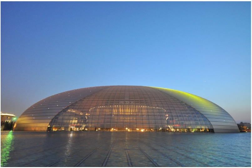 The dome-shaped National Grand Theatre in Beijing