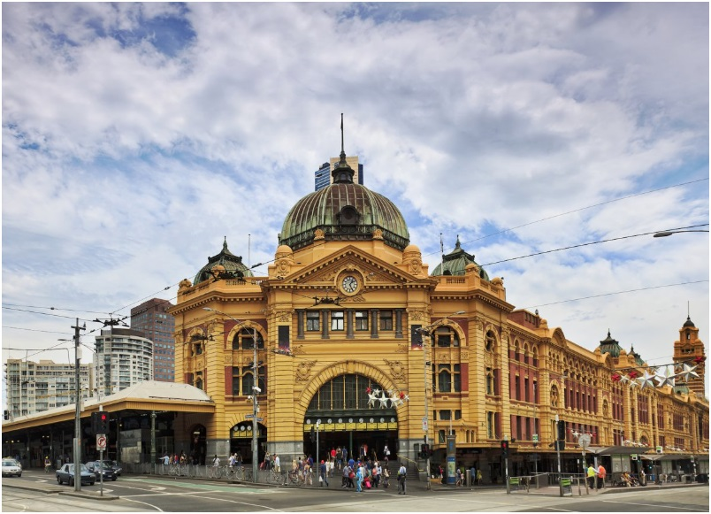 The striking Flinders Street Station in Melbourne