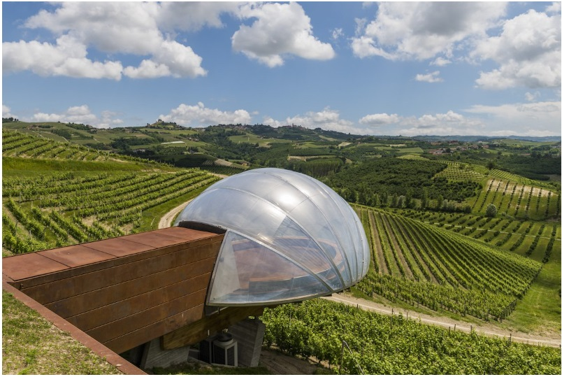 This bubble-shaped pod at the Ceratto Winery