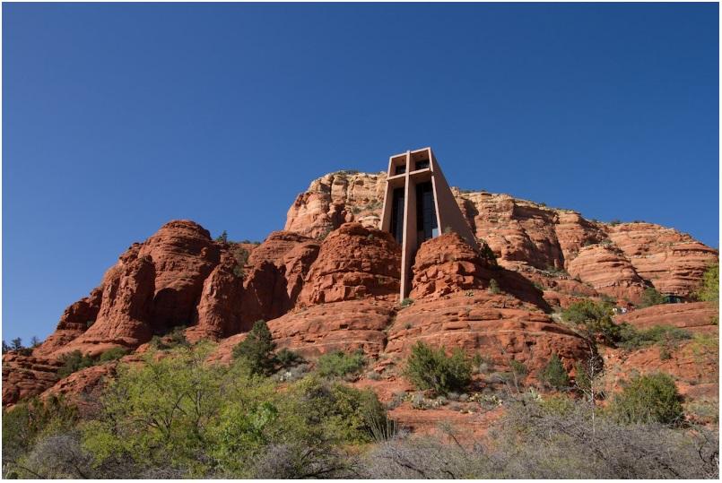 Frank Lloyd Wright's church at Cathedral Rock in Sedona, Arizona