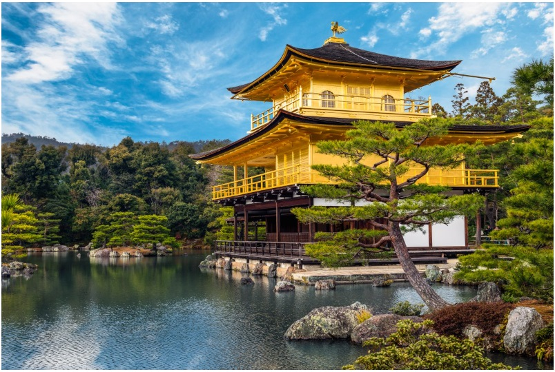 Rokuon-ji, or the Golden Pavilion, is a Zen Buddhist temple in Kyoto, Japan