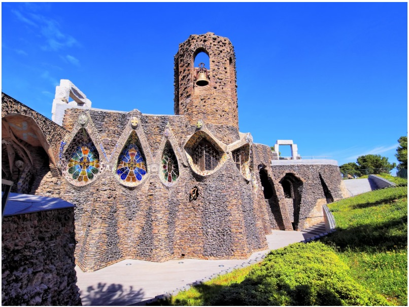 The Church of Colònia Güell in Catalonia