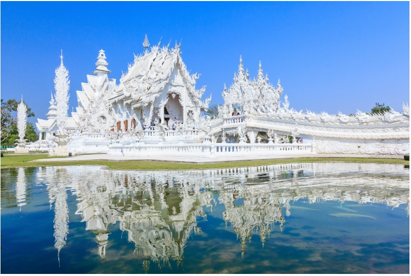 The White Temple, in northern Thailand