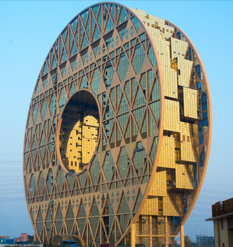 The doughnut-shaped Guangzhou Circle in China