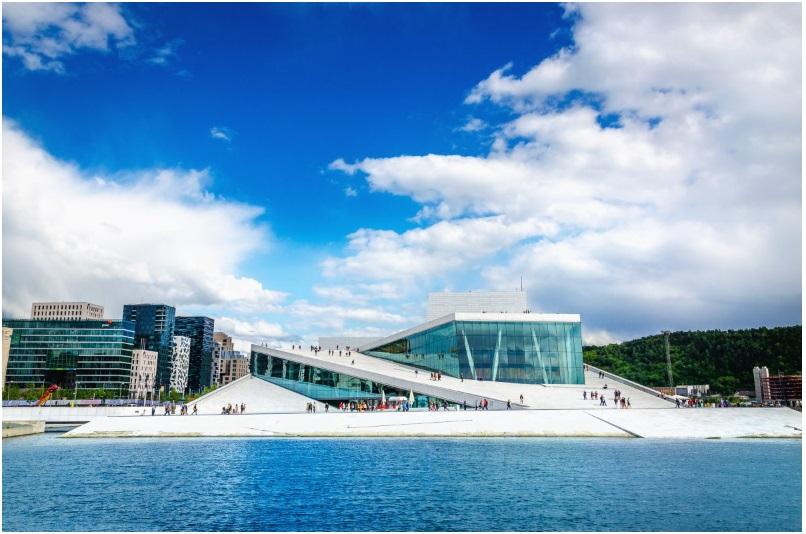 The sleek Opera House in Oslo