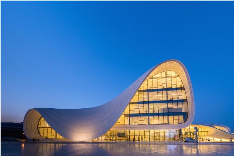 Zaha Hadid's Heydar Aliyev Centre in Baku, Azerbaijan