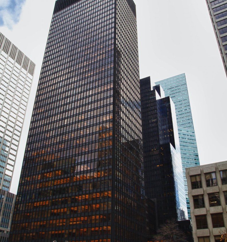The Seagram Building in the heart of New York City