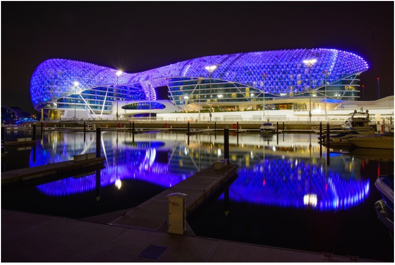 The luxury hotel Yas Viceroy Dubai