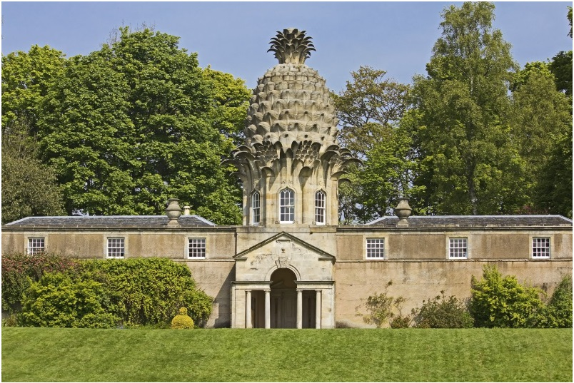 The playful Dunmore Pineapple building in Scotland