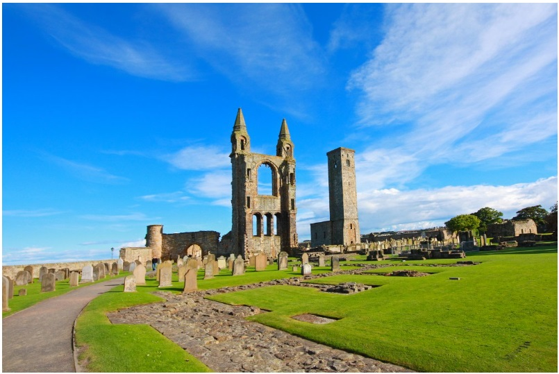 The remains of St. Andrew's Cathedral in Scotland