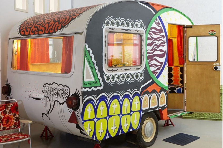 Tiny Caravans Replace Rooms at This Berlin Hotel