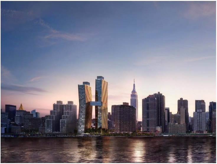 These luxury copper apartments in New York change colour and develop like a living thing