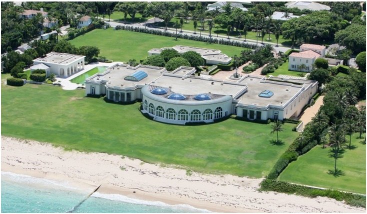 His Estate in Palm Beach (Value $100 million)