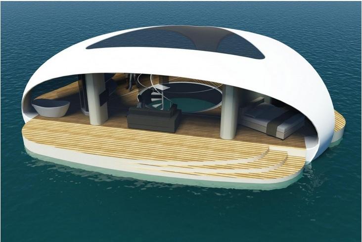 проект плавучей виллы