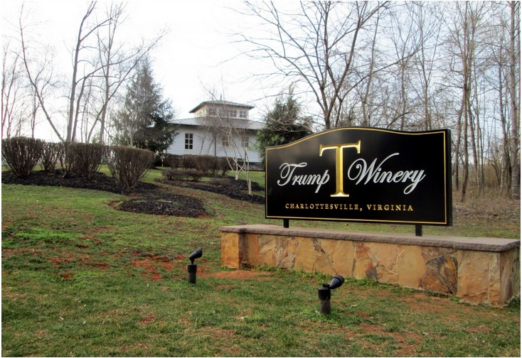 Trump Winery in Virginia (Value $25 million)