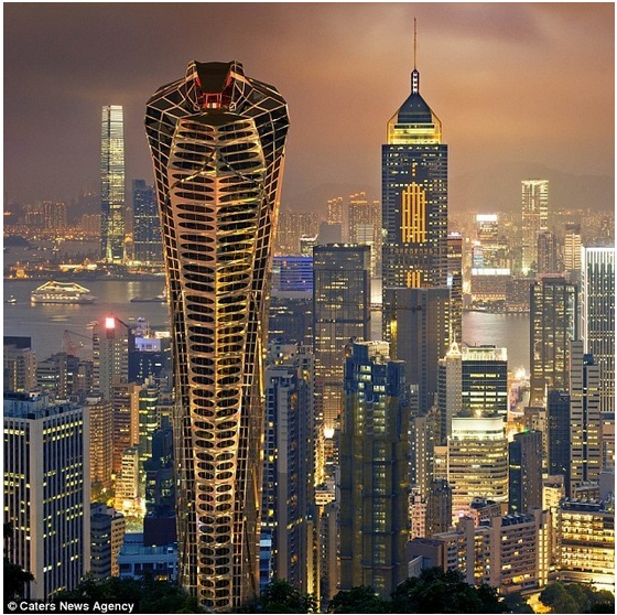 Designs Concept Skyscraper Shaped like A Cobra